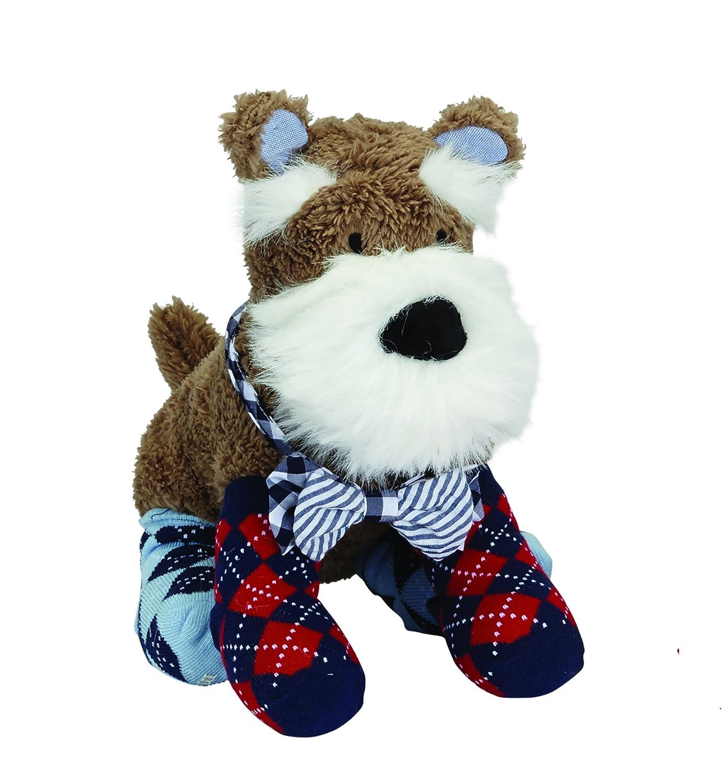 Mud Pie Schnauzer Puppy Bow Tie Sock Buddy