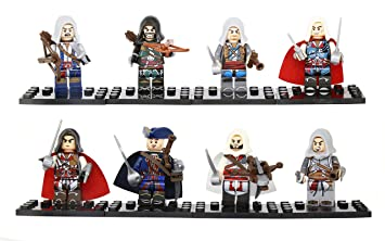 Assasin Creed Minifig For Lego 8 Pcs Storage Accessories Amazon