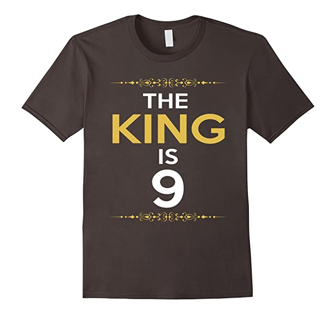 Mens Kings Is 9 Years Old 9th Birthday Gift Ideas For Him Boy 2XL