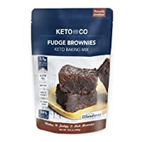 Keto Fudge Brownie Mix by Keto and Co | Just 1.1g Net Carbs Per Serving | Gluten...