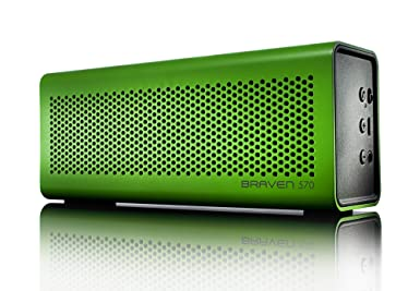 BRAVEN 570 Portable Wireless Bluetooth Speaker 10 Hour Playtime Waterproof Built-in 1400 mAh Power Bank Charger – Green