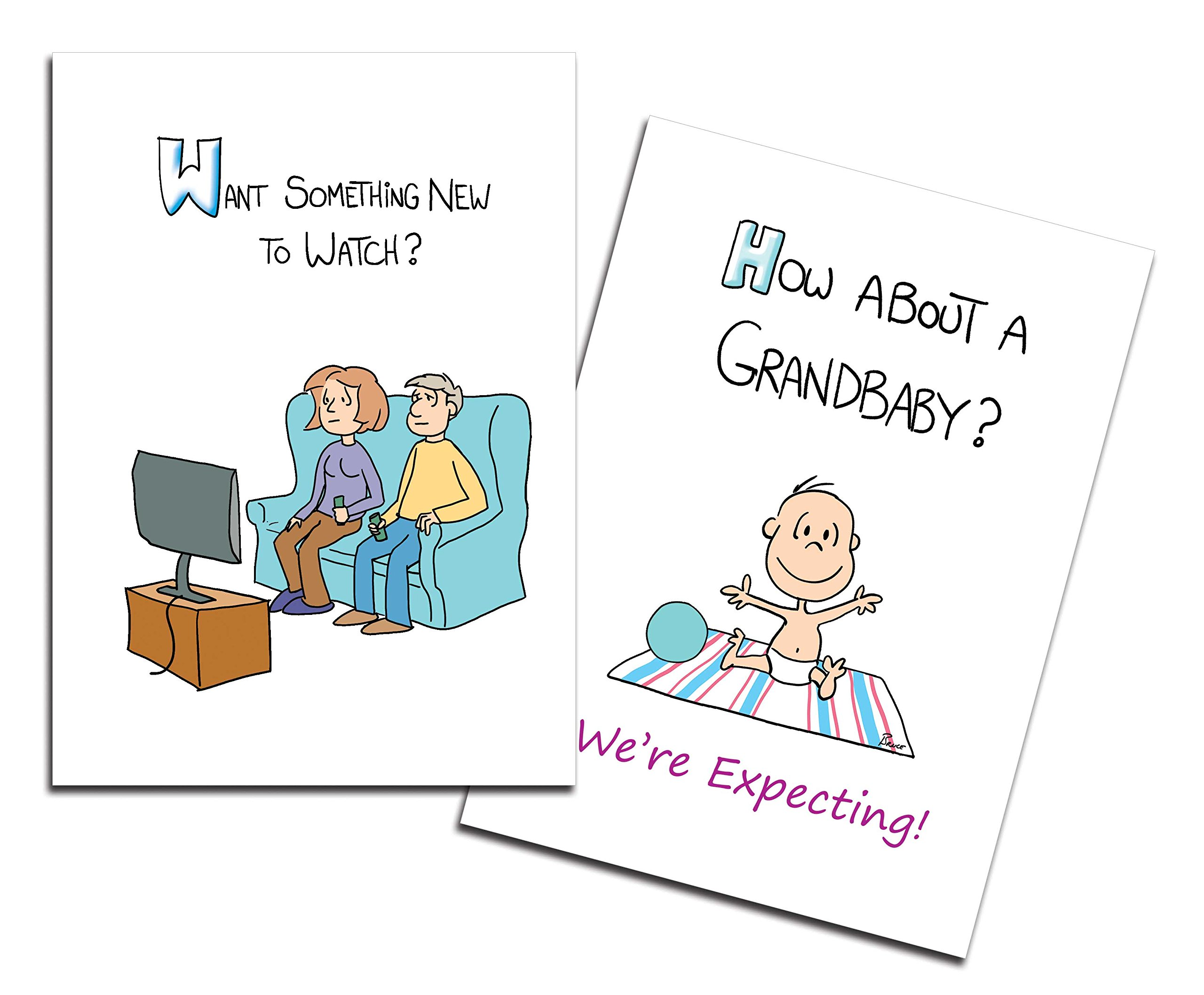 Dad's Castle Pregnancy Announcement - Grandparents Card, Something New to Watch
