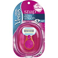 Gillette Venus Snap Cosmo Pink with Extra Smooth Women's On-the-Go Razor  - 1 handle + 1 Refill