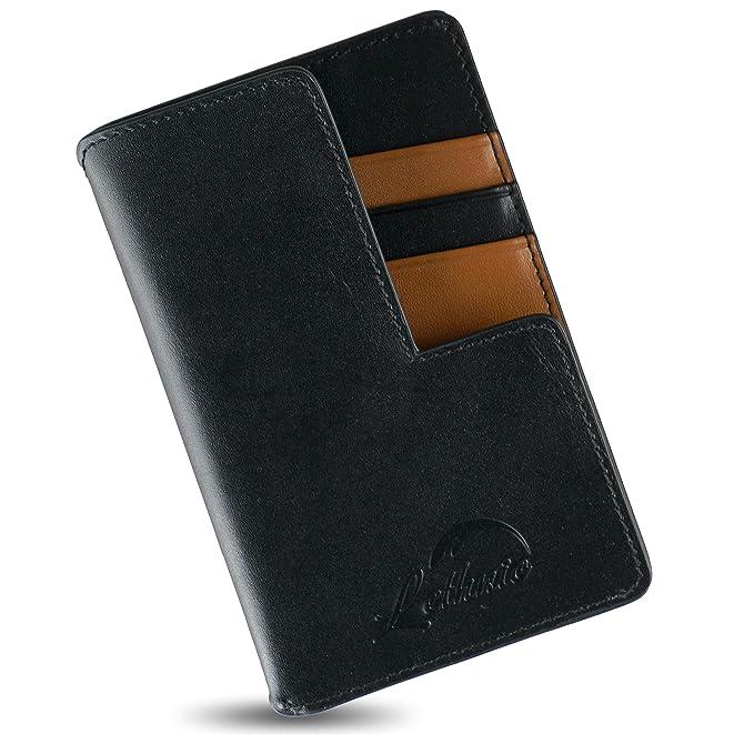 Amazon.com: Lethnic RFID - Cartera fina para hombre y mujer ...