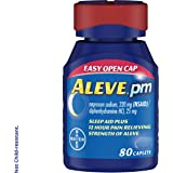 Aleve PM Caplets, Fast Acting Sleep Aid and Pain Relief for Headaches, Muscle Aches, Non-Habit Forming 220 mg Naproxen…