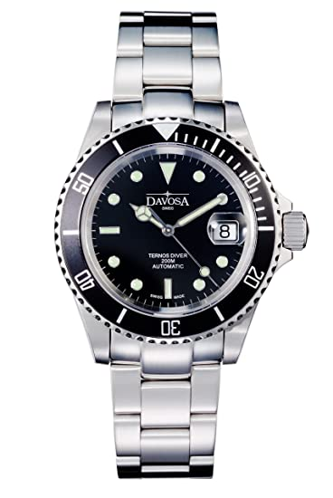 4a657ea8a Image Unavailable. Image not available for. Colour: Davosa Ternos Men's  16155550 Diver Watch ...