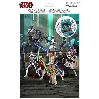 Hallmark - Star Wars: The Clone Wars Pop Up Sticker Scene: Toys & Games