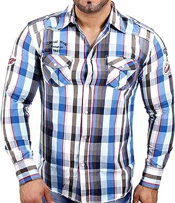 Baxboy de 3 antargo Club Wear Camisa de cuadros Vintage Polo ...