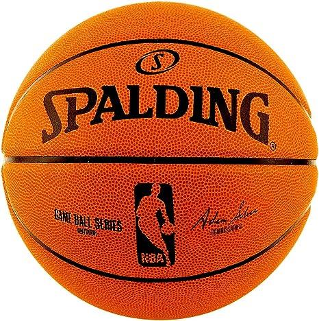 Spalding baloncesto Game Balón Réplica con NBA Logo tamaño 7 + ...