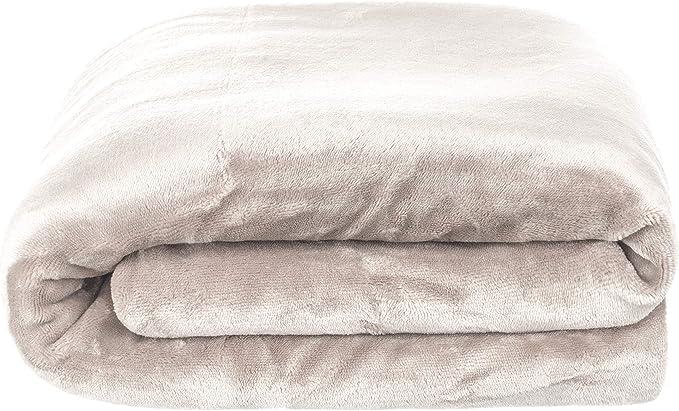 Manta de franela con parte trasera de Sherpa de BRANDSSELLER para beb/é 100 x 150 cm gris gris claro Talla:100 x 150 cm 2 colores