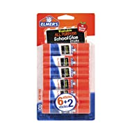 Elmer's All Purpose School Glue Sticks, Washable, 6g, 8 Count (E5004)