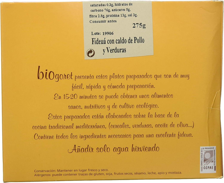 Bionsan Fideuá con Caldo de Pollo y Verduras - 6 Paquetes de ...
