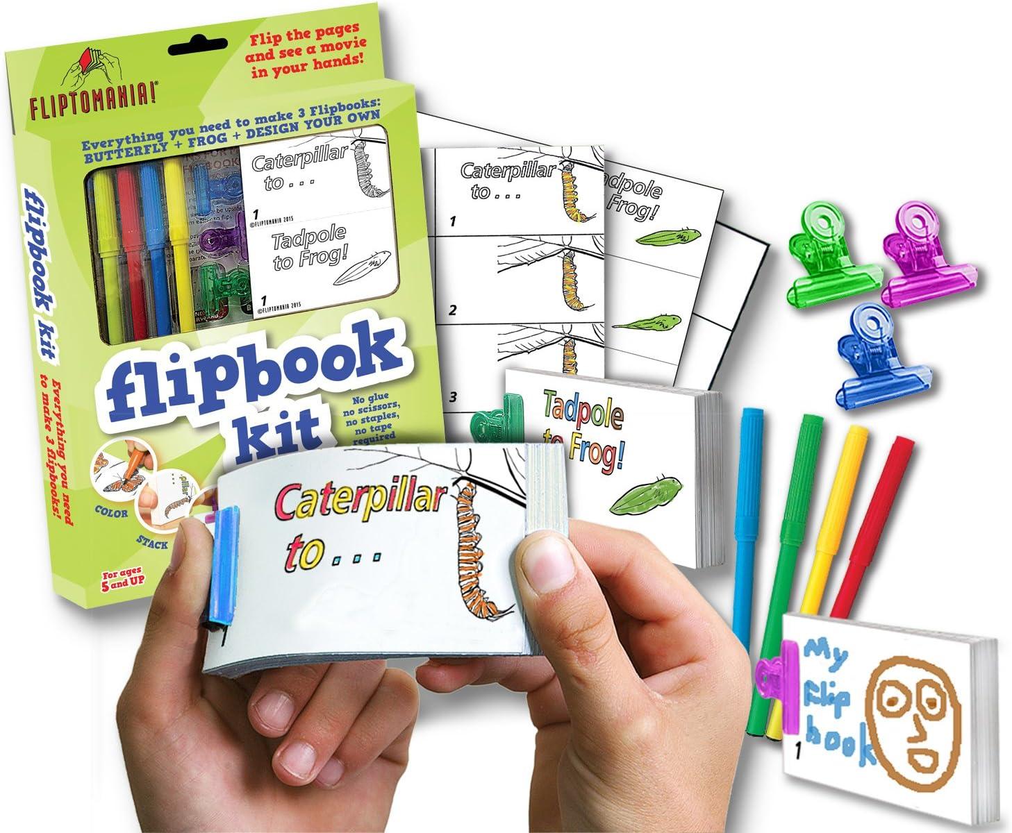 Fliptomania Flipbook Kit: Mariposa y Rana: Amazon.es: Juguetes y juegos