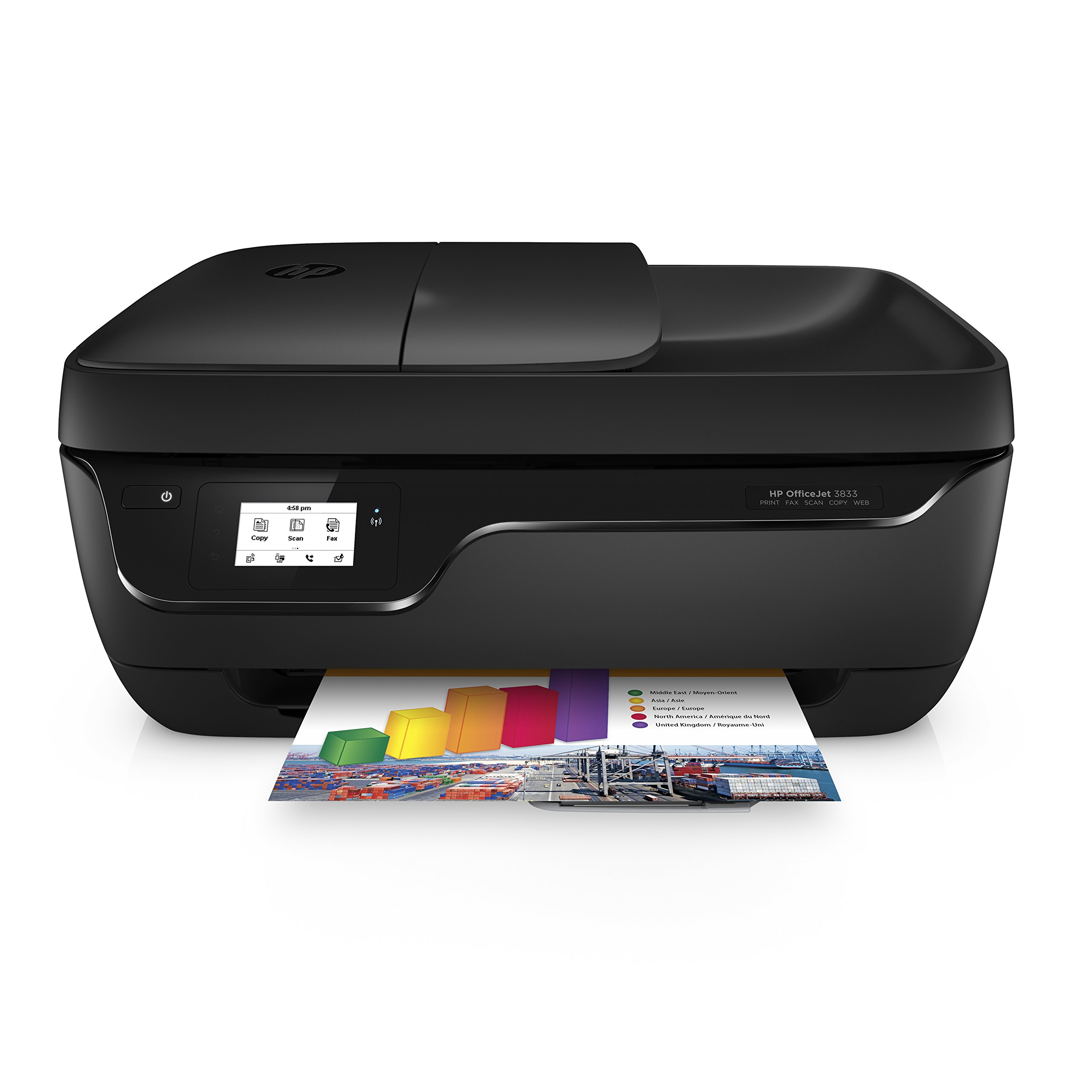 HP OfficeJet 3833 All-in-One Printer, HP Instant Ink & Amazon Dash Replenishment Ready (K7V37A) by HP
