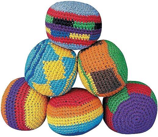 Colorful Rainbow HACKY SACK  Juggling ball Cat Toy Bean Bag Foot Bag