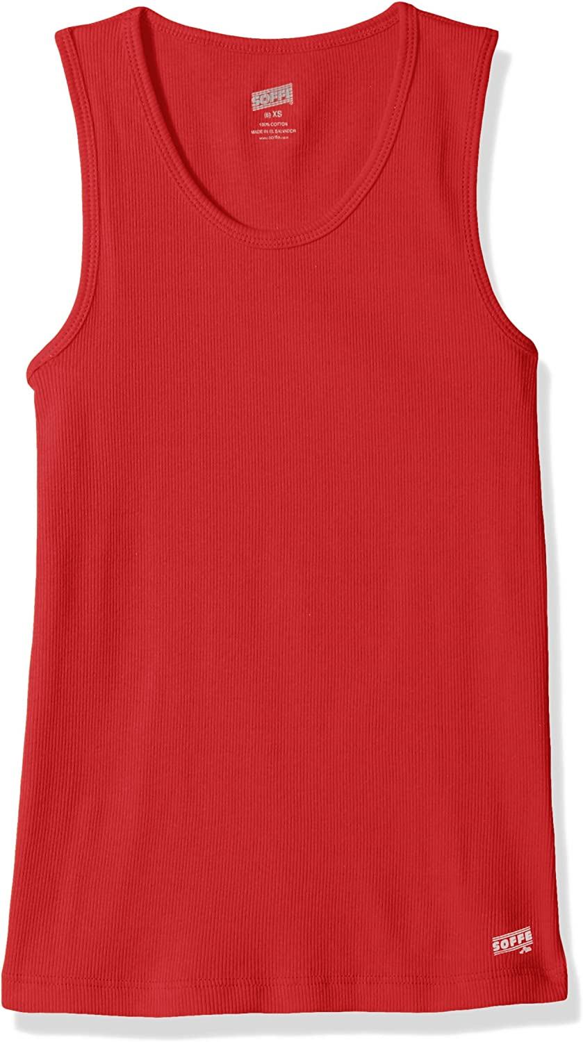 Soffe Big Girls Ribbed Tank