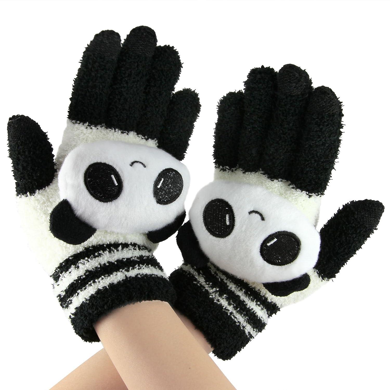 Women Mens Kids Capacitive Screen Touch Fullfinger Winter Warm Gloves for Boys Girls