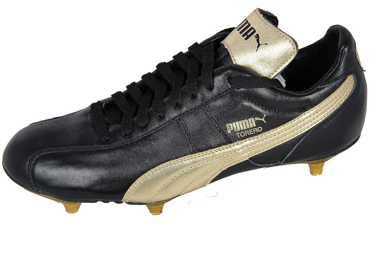PUMA Torero SG Schraubstollen Fußballschuh Herren, puma schwarz-Gold, EU 43 (UK9) (US10)