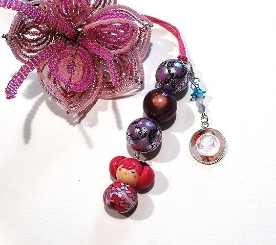 Décoration de porte rose violet mauve / bijou chambre enfant poupée ...