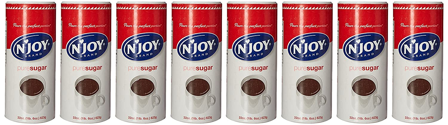 N'joy - Pure Cane Sugar Canisters, 22 Oz - 8 Count