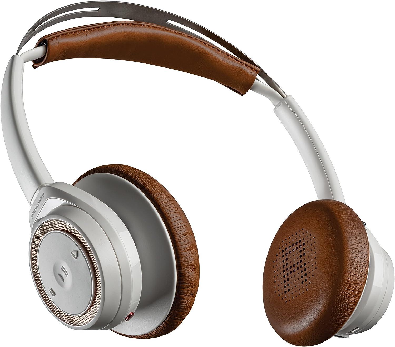 Plantronics Backbeat Sense Wireless Bluetooth Headphones with Mic - White (Renewed)