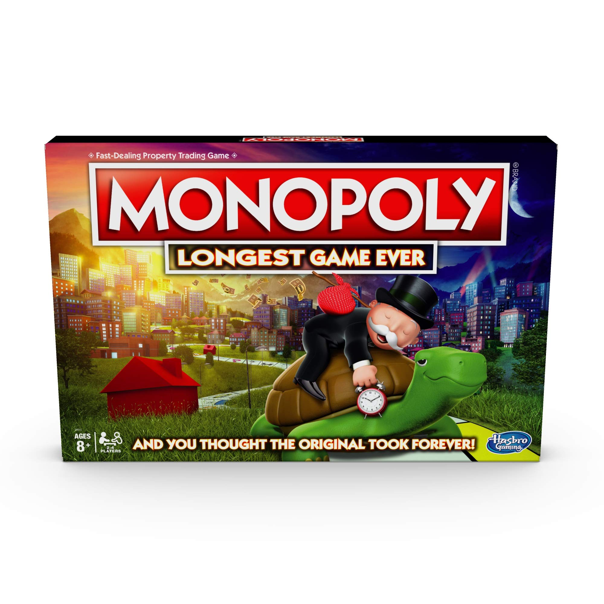 Monopoly Longest Game Ever, Classic Gameplay with Extended Play; Board Game (Amazon Exclusive) for Ages 8 & Up