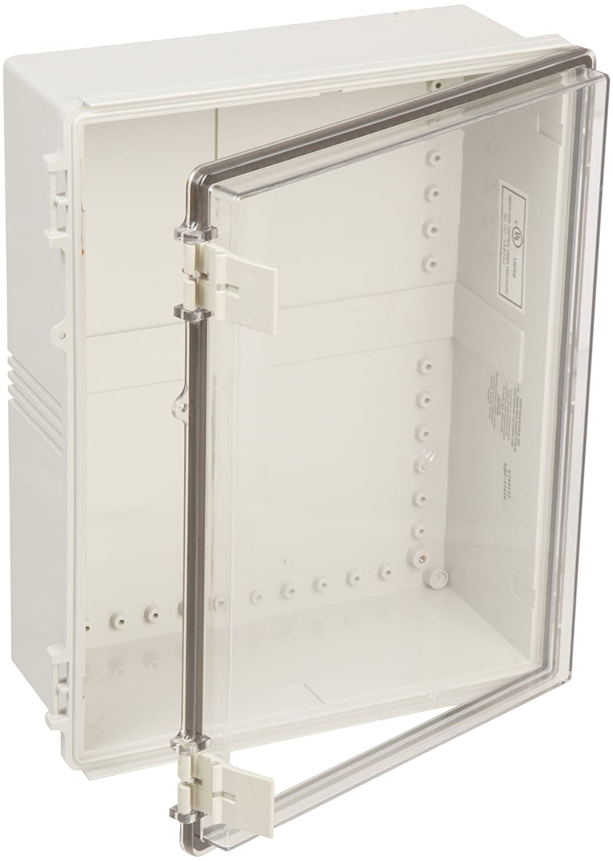 BUD Industries NBF-32422 Plastic Outdoor NEMA Economy Box with Clear Door,