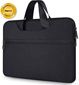 Macbook Pro 15 2016 Case, 14.1-15.4 Inch Universal Water Repellent Shockproof Laptop Sleeve Case for HP Stream 14, Acer Chromebook 14, Lenovo Yoga 910 14, Asus Dell HP Lenovo Samsung Notebook, Black