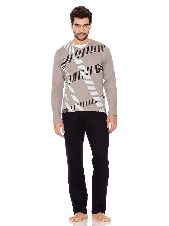 Abanderado Pijama stripes Effect Gris/Negro S: Amazon.es: Ropa y accesorios