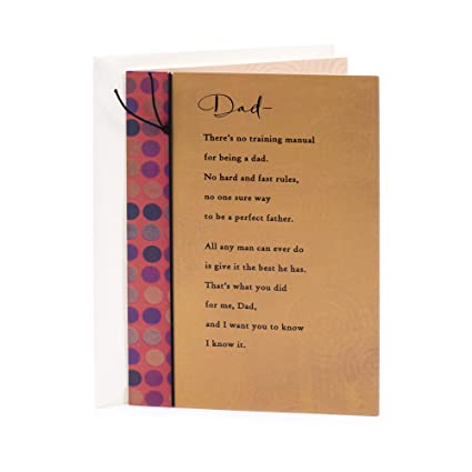 Amazon hallmark birthday greeting card for dad no training hallmark birthday greeting card for dad no training manual m4hsunfo