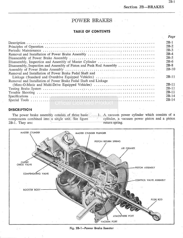1958 Mercury w/ 51-58 Auto Trans Manual Shop Service Repair Manual ...