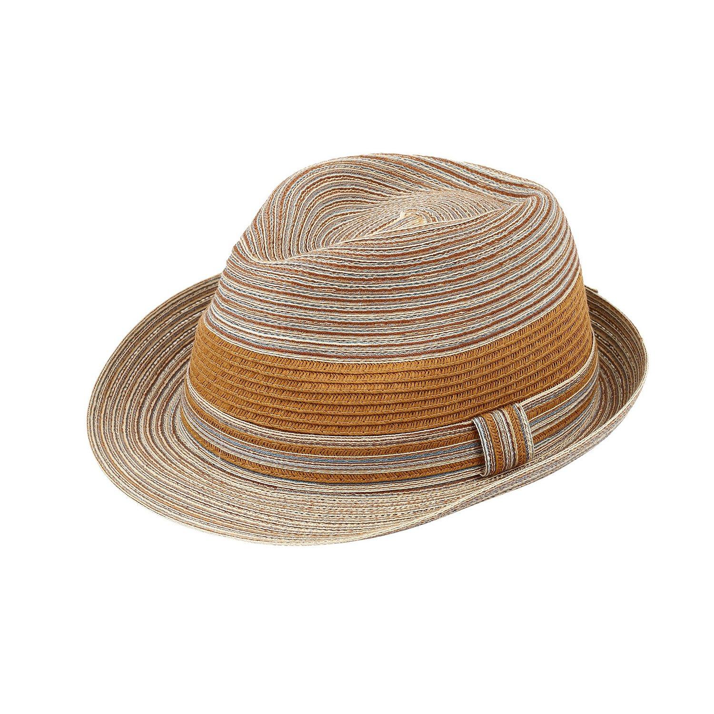AccessHeadwear Sun Styles Rosie Ladies Modern Trilby Fedora Hat Beige 2402313