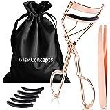 Eyelash Curler Kit (Rose Gold), Premium Lash Curler for Perfect Lashes, Eye Lash Curler with 5 Eyelash Curler Replacement Pad