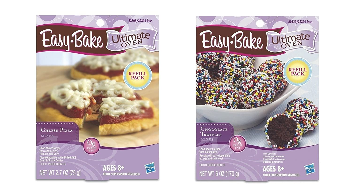 Easy Bake Dinner and Dessert Bundle #1, 2 Items: 1 Cheese Pizza Refill, 1 Chocolate Truffles Refill