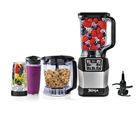 Ninja Blender and Food Processor System with 1200-Watt Auto-iQ Base, 72oz  Pitcher, 40oz Blend & Prep Bowl, Dough Tool and (2) 24oz Cups with Lids ...