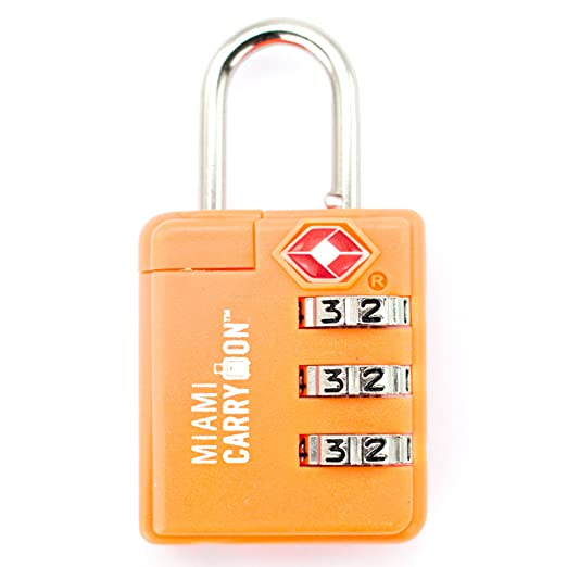 TSA Combination Padlock - Miami Carry On - Set Your Own Combination TSA Accepted Luggage Lock