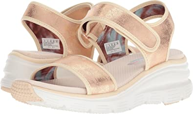 7ec6b65dbf21 Skechers Women s Wedge Appeal - Brush-Off Rose Gold 9 ...