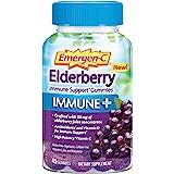 Emergen-C Immune+ Elderberry Gummies, 750 mg Vitamin C with Vitamin D, Zinc and Electrolytes, Immune Support Dietary Suppleme