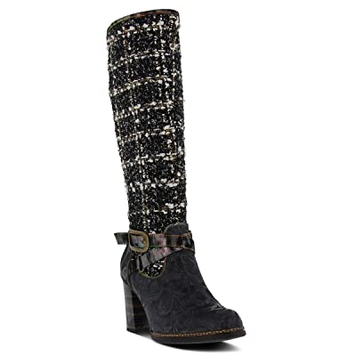 L'ARTISTE Women's Tweed Ankle Boot | Knee-High