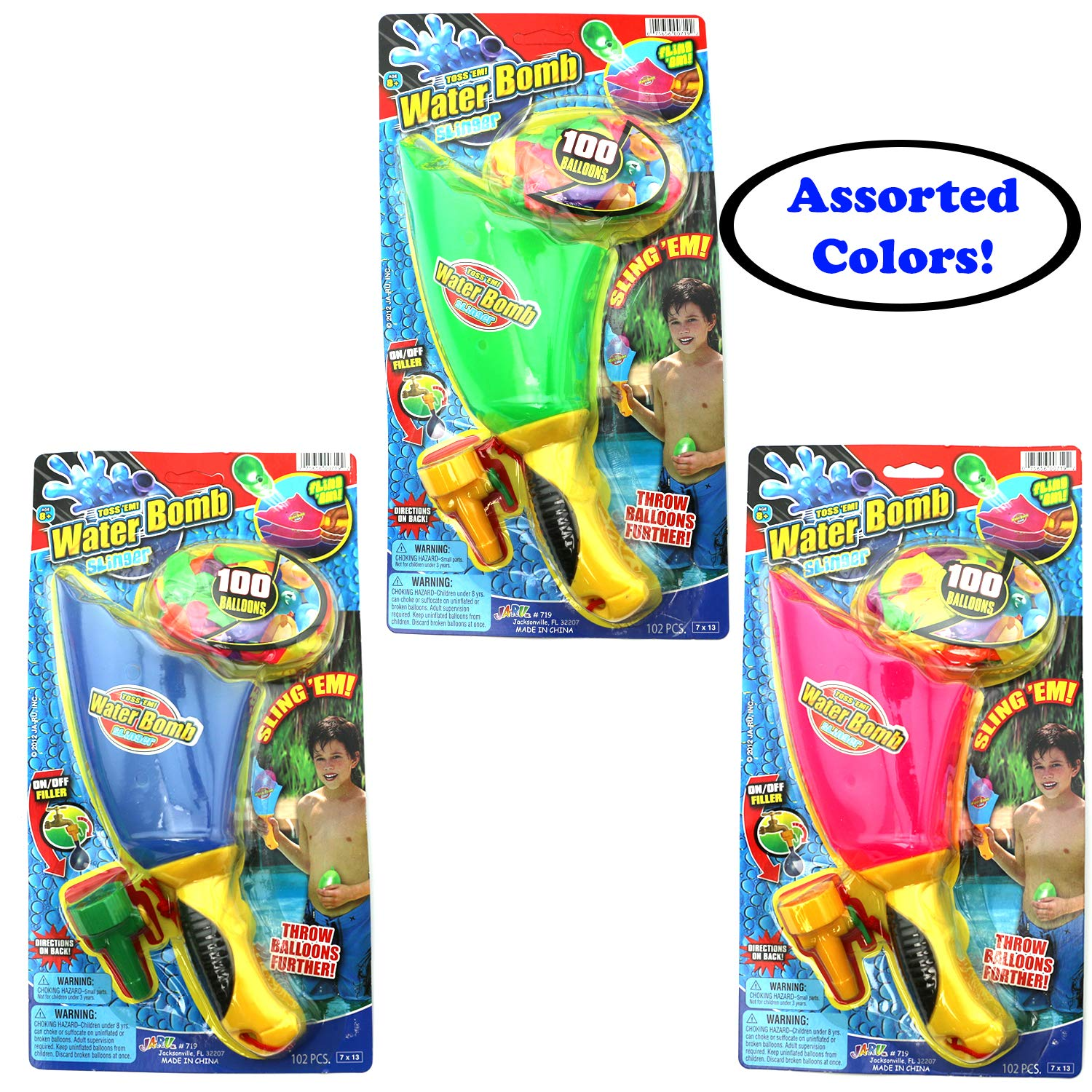 Ultimate 10 Piece Water Balloon Set 855 Water Balloons, Slinger, Carry Tote, Refill Gun, Water Balloon laucher Slingshot Water Balloon Party with 2 GosuToys Stickers by Gosu Toys (Image #2)