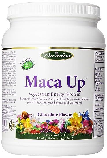 Paradise Herbs Maca Up Protein Powder, Chocolate, 420 Gram