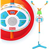 Kidzlane Kids Karaoke Machine and Music Player with Two Mics, Bluetooth and Aux Connectivity, LED Lights, and Sound Effects