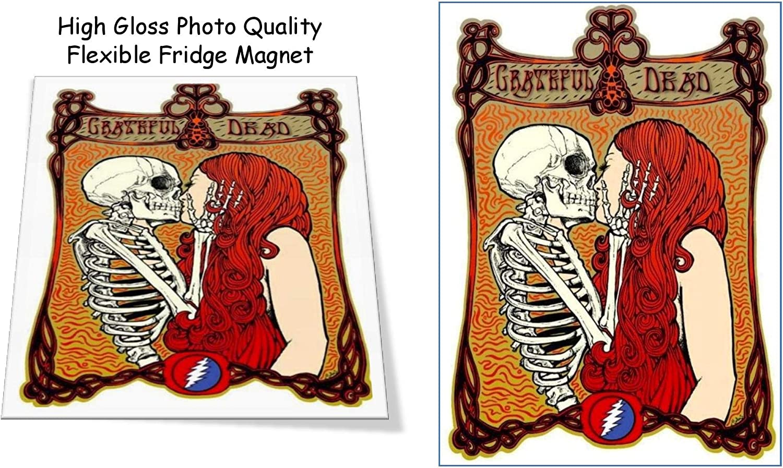 "Grateful Dead Poster 3""X4"" Flexible Fridge Magnet, High Gloss Photo Finish"