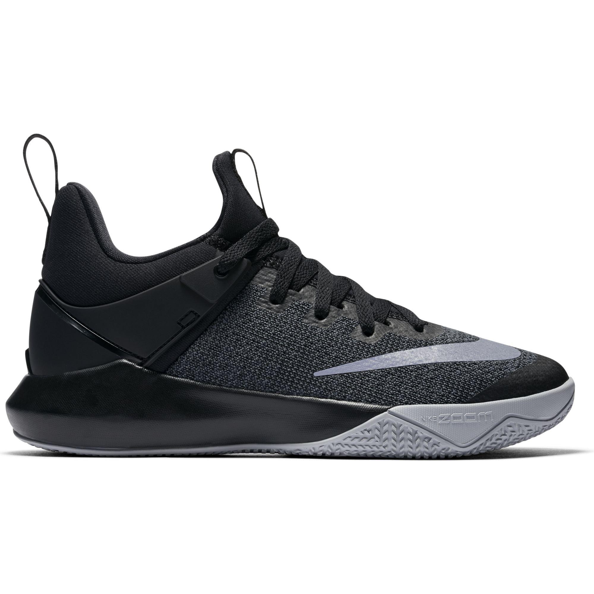 Nike Women's Zoom Shift Basketball Shoe Black/Chrome/Wolf Grey Size 10 M US