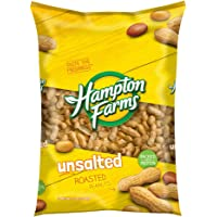 Hampton Farms Unsalted Roasted In-Shell Peanuts, 5 lbs. (pack of 2) - SET OF 2