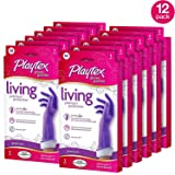 Playtex Living Reuseable Rubber Cleaning Gloves, Premium Protection (Medium, Pack - 12)