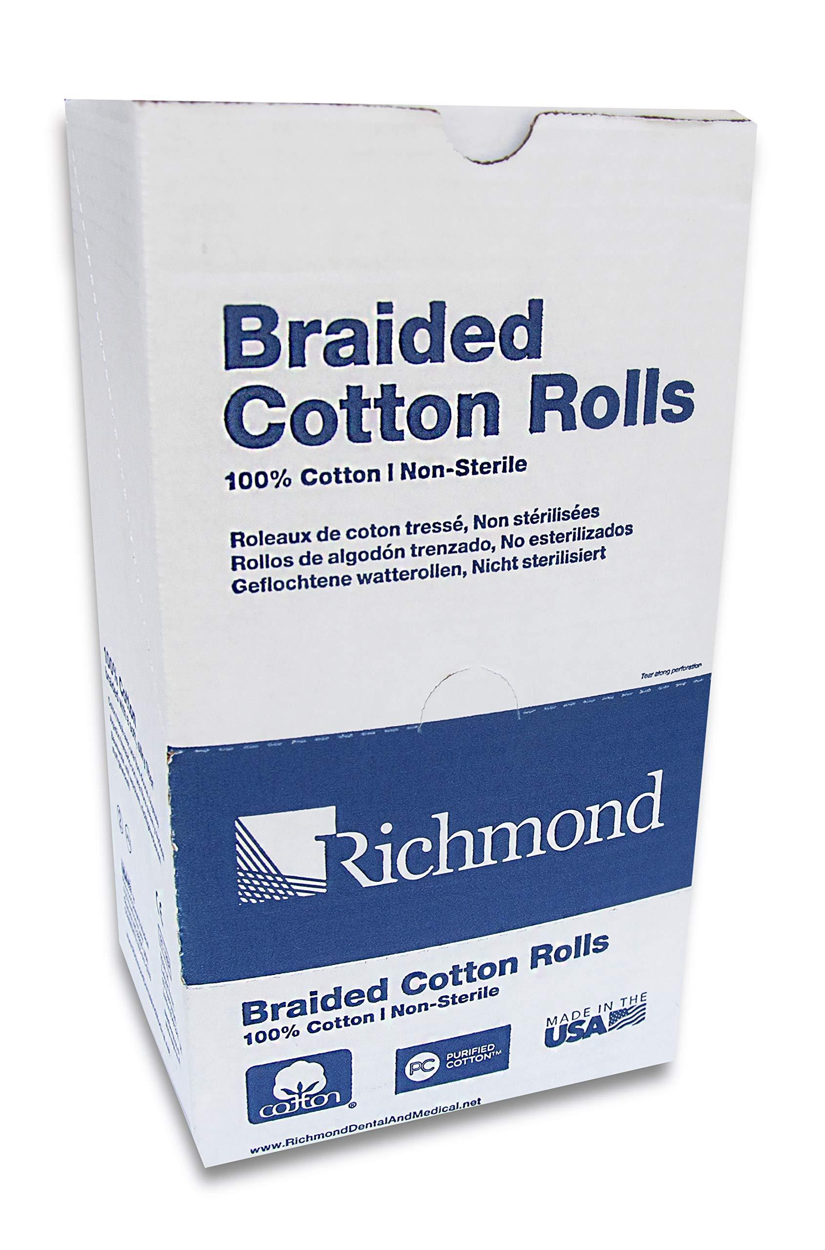 Richmond Dental & Medical 200204 1.5'', Medium Braided Cotton Roll, Nonsterile by Richmond Dental & Medical (Image #1)