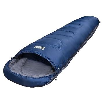 Explorer Tramp 4648 - Saco de dormir, 230 x 80 x 55 cm, color gris y azul: Amazon.es: Deportes y aire libre
