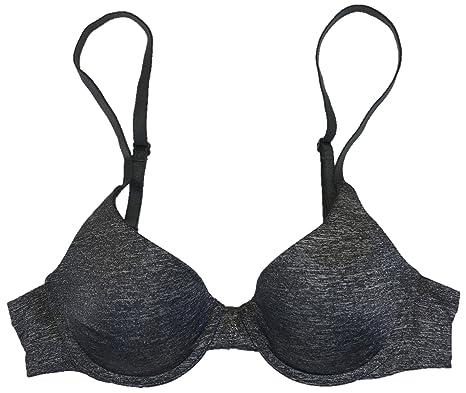 7897e9f081b Victoria s Secret T-Shirt Bra Uplift Semi Demi 32C Black Marl ...