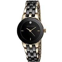 Anne Klein Goldtone And Black Ceramic Bracelet Watch